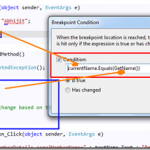 Use Conditional Breakpoints with Method Calling in Visual Studio