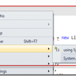 Adding and Resolving Namespaces using Shortcut key in Visual Studio