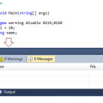 How to suppress compiler warning using #pragma warning directives in Visual Studio ?