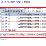 Few Tips on Customizing Debugging Window View in Visual Studio