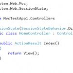 How To Create Session-less Controller in MVC3
