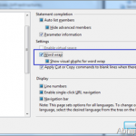 How to setup automatic Word Wrap in the Visual Studio Editor ?
