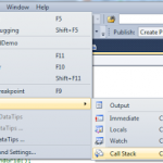 Help yourself in Debugging by using Call Stack and Immediate Window