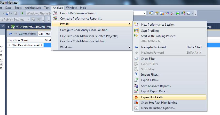 Highlighting Execution Hot Path in Visual Studio 2010 Profiler ...