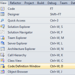 Navigate Code Using Code Definition Window in Visual Studio