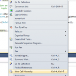 Using Code Definition Window with Call Hierarchy in Visual Studio 2010