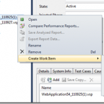 Create Work Item in TFS for Specific Visual Studio 2010 Profiler Report