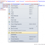 Extract To User Control in Visual Studio 2011 Developer Preview