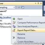 Export Profiler Report Data in Visual Studio 2010
