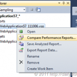Comparing Profiler Performance Reports in Visual Studio 2010
