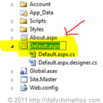 Renaming Project Files in Visual Studio 2011 Developer Preview