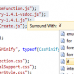 Surround-with Code Snippets in Visual Studio