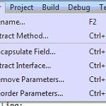 Refactoring Code using Visual Studio Extract Method