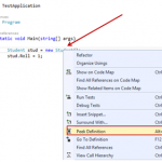 View Code Definition with in Same Code Window – Peek Definition in Visual Studio 2013 Preview