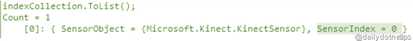 Device Index From Kinect InstaceID