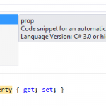 There is a propfull code snippet for property and backing field
