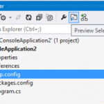 Preview Selected Items in Visual Studio
