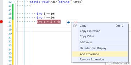 DataTip Add Expression