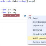 Adding New Expression in Visual Studio DataTips