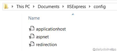 IIS Express Config Files