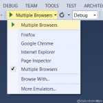Run Web Application in Multiple Browser Simultaneously from Visual Studio