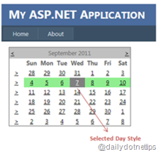 Change Background Color of Current Week in ASP.NET Calendar