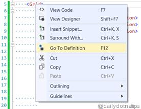Go To Definition in XAML