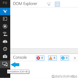Emulation Mode in IE 11