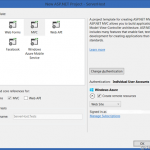 Setting up your Windows Azure Site during Web Site creation in Visual Studio 2013