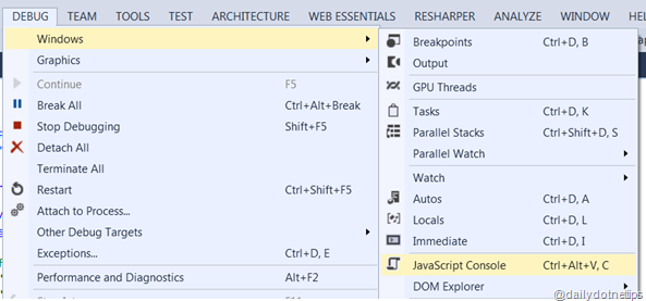 Open JavaScript Console