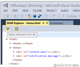 Select Element in DOM Explorer