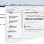 How to change Menu Bar Style in Visual Studio 2015 ?