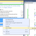 Create and Run Subset of Unit Tests Using Playlist in Visual Studio