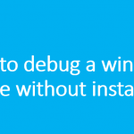 How to debug a windows service without installing ?