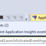 How to get number of Application Insights events from Visual Studio 2015?