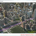 3D Rendering of MapControl in Windows 10 Universal App Development