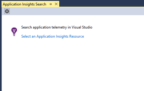 Application Insight Search in Visual Studio