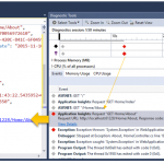 Application Insights Events Filtering inside Visual Studio Diagnostic tools