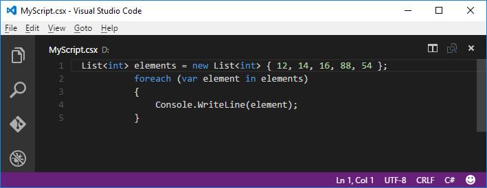C# Script in VS Code