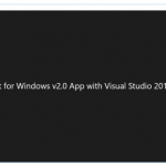 Developing kinect for Windows v2.0 App with Visual Studio 2015 on Windows 10