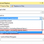Changing the Search Scope to find and replaces external files easily in Visual Studio ?