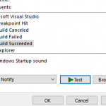 Did you know – You can play sound when Build Succeeded or Failed in Visual Studio ?