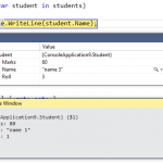 Accessing out of scope Objects from Immediate Window in Visual Studio