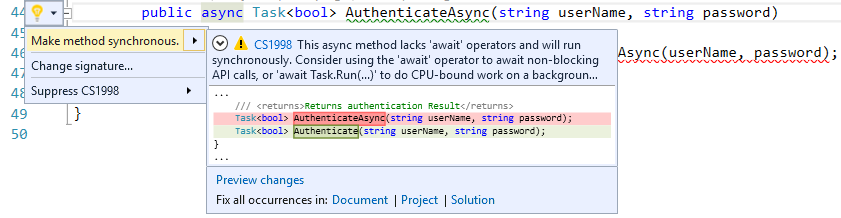 Refactoring Async To Sync
