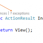 Turning On/Off Application Insights Exception display for CodeLens in Visual Studio
