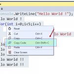 "Did you know –  you can just ""copy the code"" as well from C# Interactive Window ?"