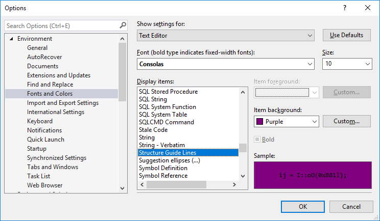 how to change colors of png in visual studio 2017