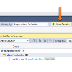 "Persisting the ""Find All references"" results in Visual Studio 2017"
