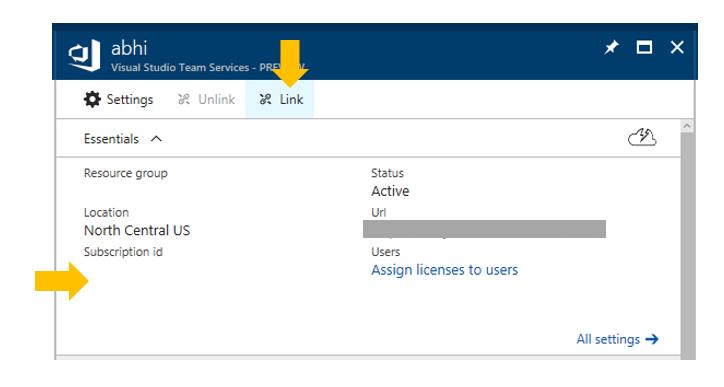 Link Team Account Active