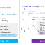 "Turning On/Off ""Structure Guide Lines"" in Visual Studio 2017"